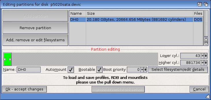 Editing partitions in Media Toolbox